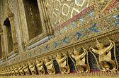 Templo do grande palácio de bangkok tailândia detalhe — Foto Stock