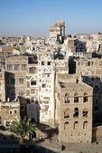 Tradiční architektura v Jemenu sanaa — Stock fotografie
