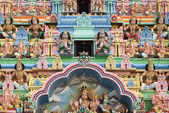 Hindu temple detail in singapore — Stock Photo