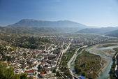 View of berat town center in albania — Stock Photo