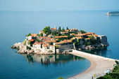 Sveti stefan-insel-resort in montenegro — Stockfoto
