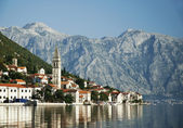 Perast in kotor bay montenegro — Stock Photo