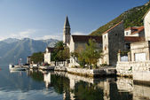 Perast village near kotor in montenegro — Stock Photo