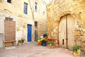 Old residential area of valetta malta — Stock Photo