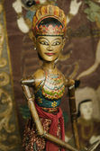 Wooden puppet in bali indonesia — Stock Photo