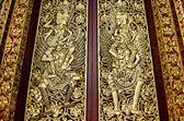 Porta de templo em bali na indonésia — Foto Stock