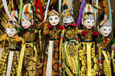Traditional puppets in bali indonesia — Stock Photo