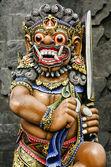 雕像在寺庙巴厘岛 — 图库照片