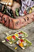 Ofertas no templo bali na indonésia — Foto Stock