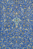 Traditional persian ceramic tiles in isfahan iran — Stock Photo