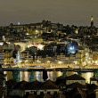 Porto riverside by night in portugal - Stock Photo