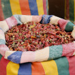 Dried chilli peppers in middle east souk market cairo egypt — Stock Photo