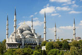Sultan ahmed mosque in istanbul turkey — Stockfoto