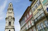 斯 clerigos 塔在葡萄牙波尔图 — 图库照片