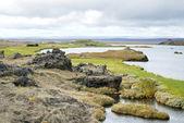 Volcanic landscape in iceland interior — Stock Photo