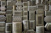 Boîtes à souvenirs au caire décorées du souk egypte — Photo