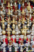 Narguileh shisha water pipes in cairo egypt — Foto Stock