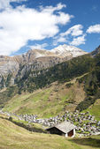 Vals village in switzerland alps — Stock Photo