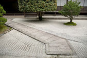 Japanese traditional stone garden in kyoto japan — Photo