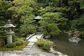 Japanese traditional garden in kyoto japan — Stock Photo