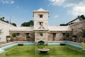 Interior pond of palace in solo indonesia — Stock Photo