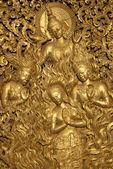 Budist tapınağı Laos dini figürler — Stok fotoğraf