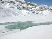 вид на пиц бернина альп в швейцарии — Стоковое фото