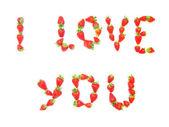 Fresa te amo — Foto de Stock