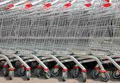 Shopping cart trolley — Stock Photo