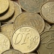 Euro coins background — Stock Photo #6769753