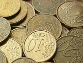 Euro coins background — Photo