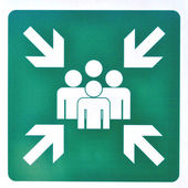 Assembly Point sign — Foto Stock