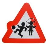 Warning children playing — Stock Photo #6828703