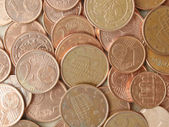 Euro coins background — Foto Stock