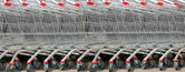 Shopping carts — Stock fotografie
