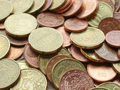 Euro coins background — Stockfoto