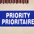 Priority — Stock Photo