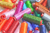 Colour sewing wire thread — Stock fotografie