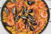 Paella food — Stock Photo