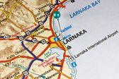 Map of Larnaka — Stock Photo
