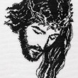 Jesus Christ cross stitch - Stockfoto