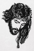 Jesus Christ cross stitch — Stock Photo