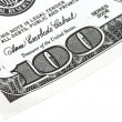 Stock Photo: One Hundreds Dollars Closeup