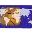 Sim Card with World Map — Stock Photo