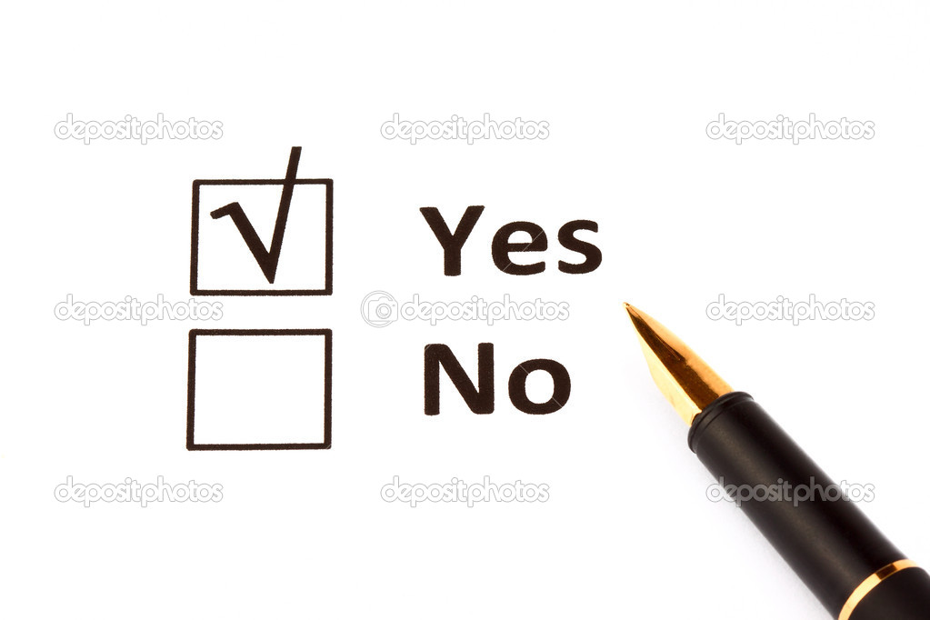 Yes or No on the white background — Stock Photo #7892791