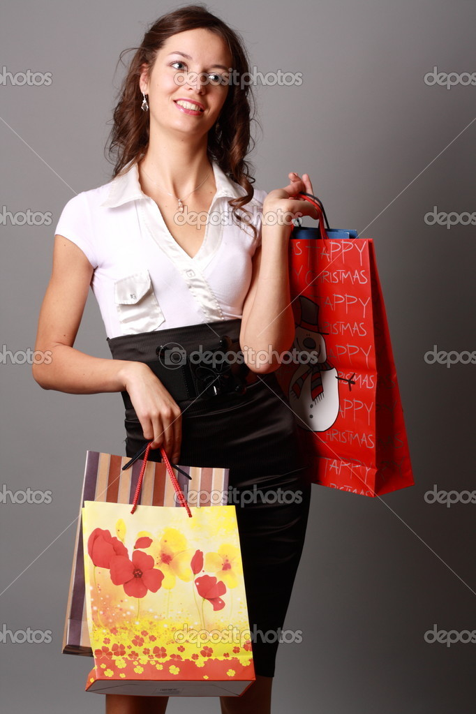 Shoot a young charming cheerful Miss  Foto Stock #6779052
