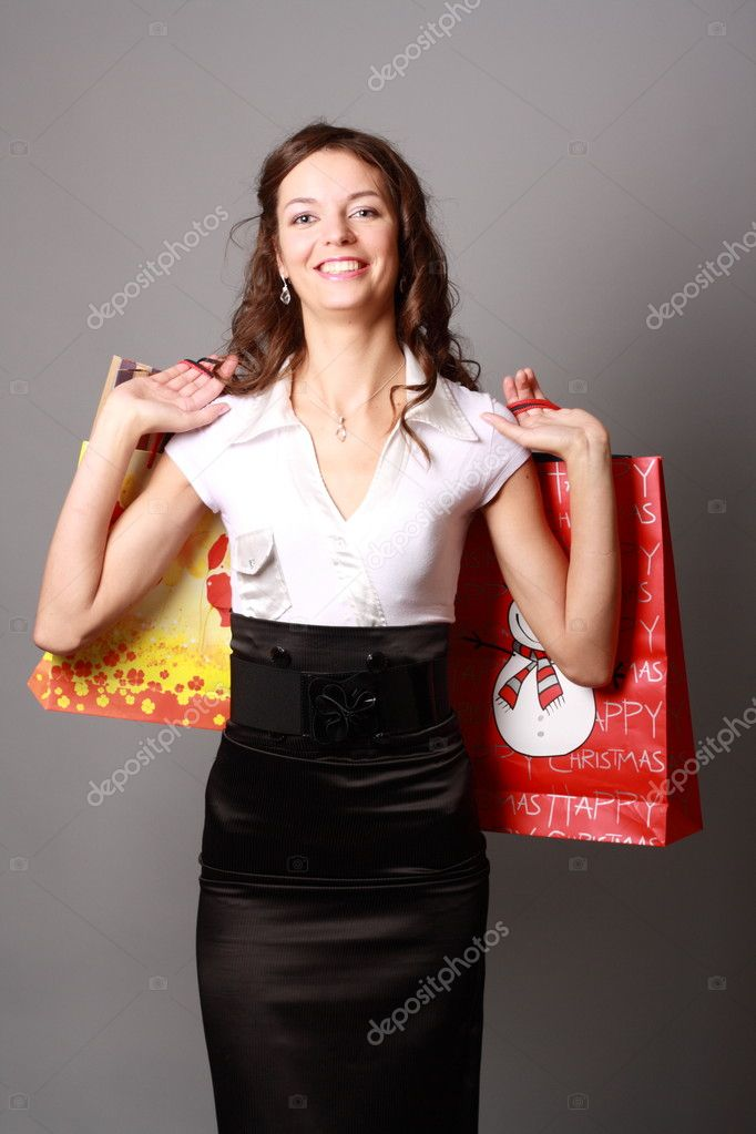 Shoot a young charming cheerful Miss — Stock Photo #6779124