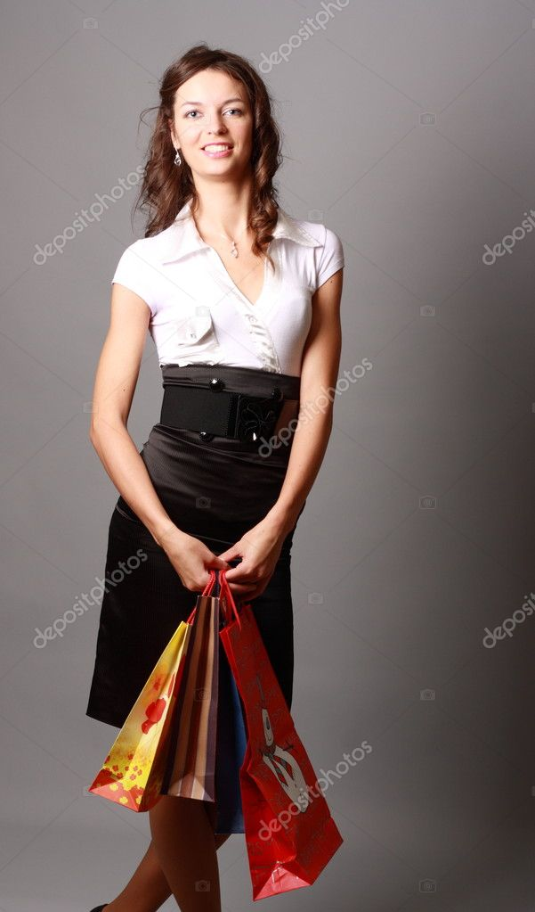 Shoot a young charming cheerful Miss  Stock Photo #6779153