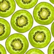 Fresh juicy kiwi slices background — Stock Photo #6887378