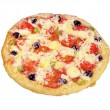 Royalty-Free Stock Photo: Pizza with olives and tomatoes closeup